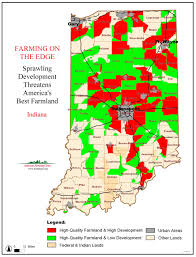 Map Indiana American Farmland Trust Resources Farming On The Edge Report