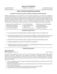 Maintenance Skills For Resume Manager Resume