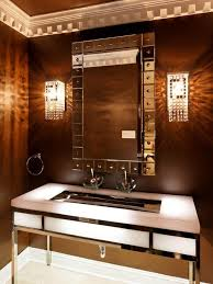 Contemporary Wall Sconces Bathroom With Double Vanity Mirrors And Three Tube Wall Sconces