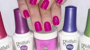 gelish acrylic nail dip youtube