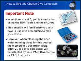 Padi Dive Table by Padi Open Water Online Course With Dive Computers Padi Pros Blog