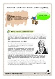 worksheet lamarck versus darwin u0027s evolutionary theory 9th 12th