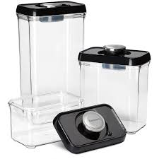 black kitchen canister set shop cuisinart 3 piece plastic food storage container at lowes com