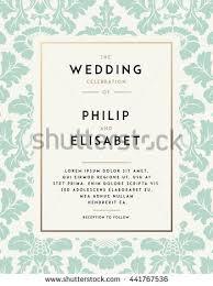 Decoration For Wedding Vintage Wedding Invitation Template Modern Design Stock Vector