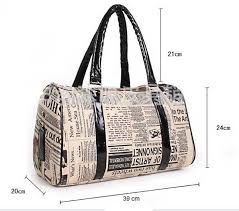 Womens Travel Bags images Womens travel bags newspapers poster bag retro vintage style lady jpg