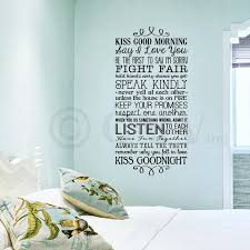 amazon com kiss good morning kiss good night wall saying vinyl kiss good night wall saying vinyl lettering home decor decal stickers quotes appliques transfers subway art black 12 5x26 home kitchen