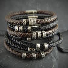 bracelet leather man silver images 81 best unisex bracelets images leather wristbands jpg
