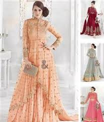 wholesale catalog of embroidered designer dresses in crepe