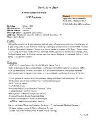 Sample Resume For Oil And Gas Industry by Sample Resume Hse Engineer