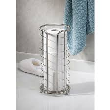 interdesign forma free standing toilet paper holder for bathroom
