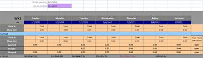 self calculating weekly timesheet template