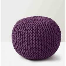 Ottoman Knitted Knitted Pouf Kwp 007