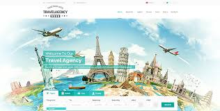 travel agency website template theme gridgum