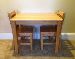 childrens table and chair set etsy