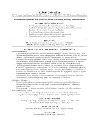 Sample Resume Objectives For Recent College Graduates by Resume Of Investment Banker Free Resume Example And Writing Download