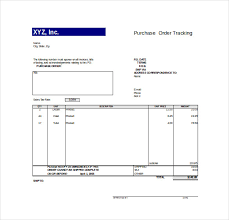 Free Excel Purchase Order Template Order Tracking Template 10 Free Word Excel Pdf Documents