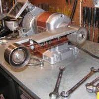 Diy Bench Sander Craftsman Bench Grinder Belt Sander Attachment Wordblab Co
