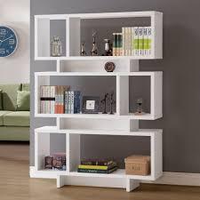 Modern Bookcase White by Bookshelf Astonishing Geometric Bookcase Wonderful Geometric