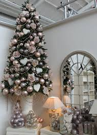 romantic christmas tree design blush pink and pearl holidays