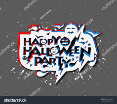 happy halloween party greeting card calligraphy stock vector