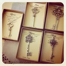 thank you wedding gifts skeleton key wedding favors thank you gifts bridesmaids gift