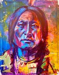 really cool multi colored tribal painting artist darrell driver