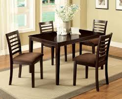 espresso rectangular dining table furniture of america larkans espresso 5 piece dining table set