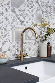 copper backsplash tiles kitchen surfaces pinterest palladio grey mix decorative glazed tiles and nero riven slate