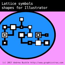 Home Designer Pro Lattice Lattice Symbols For Illustrator Cc Cs6 Cs5 Inc Nodes Connections