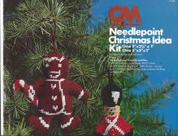 vintage 1985 columbia minerva needlepoint christmas idea kit toy