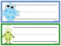 printable monster name tags little monsters nameplates tags tema dos monstrinhos pinterest