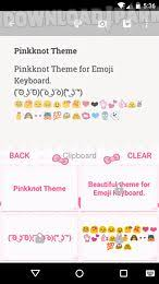 keyboard themes for android pink knot emoji keyboard theme android app free in apk