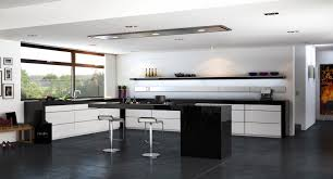 luxury deep grey color concrete kitchen floor featuring white wall