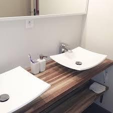 salle de bain plan de travail superb plan bois salle de bain 9 le plan de travail salle de