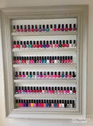 nail polish rack display frame shabby chic vinatge grey beauty