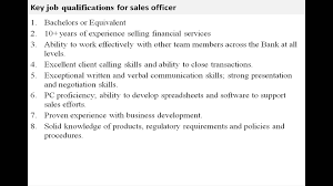 Salesperson Skills Resume Sales Officer Job Description Youtube