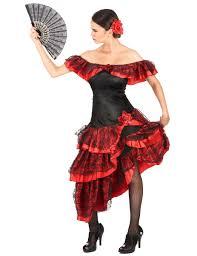 Red Black Flamenco Dancer Costume Women Vegaoo