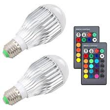 Changing Color Light Bulbs 2pcs 10w Rgb Color Changing Light Bulbs E27 Led Rgb Lamp With