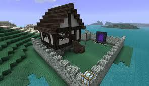 private tudor house on natural island penensula minecraft project