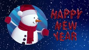 happy new year moving cards snowman waving animated greeting card winter