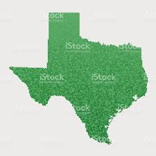 Tx State Map by Texas State Map Green Hexagon Pattern Stock Vector Art 464590414