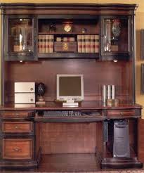 5 piece two toned grand style home office executive set by coaster