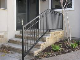 Outside Banister Railings Stairs Outstanding Outside Handrails 2 Step Outdoor Handrail