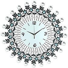 winnereco metal 3d wall clock peacock