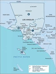 Map Of West Los Angeles by Los Angeles Region Map Naswcanews Org