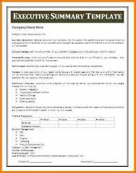 Sample Executive Summary Resume by 9 Executive Summary Word Template Resume Reference
