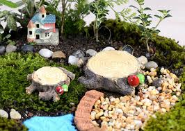 shop 2pcs stump moss micro landscape ornaments diy