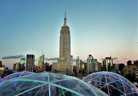 what a view from a rooftop nyc igloo