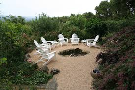 Rustic Firepit Exterior Design Ground Pit In Cozy Rustic Patio Design With