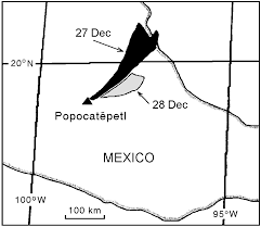 Coyoacan Mexico Map by Mtu Volcanoes Page Popocatepetl Volcano